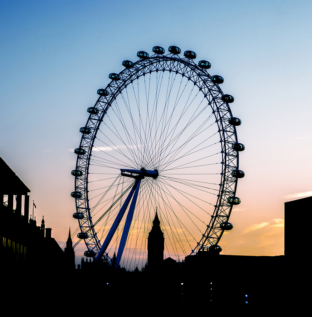 4.Silhouette of the London Eye